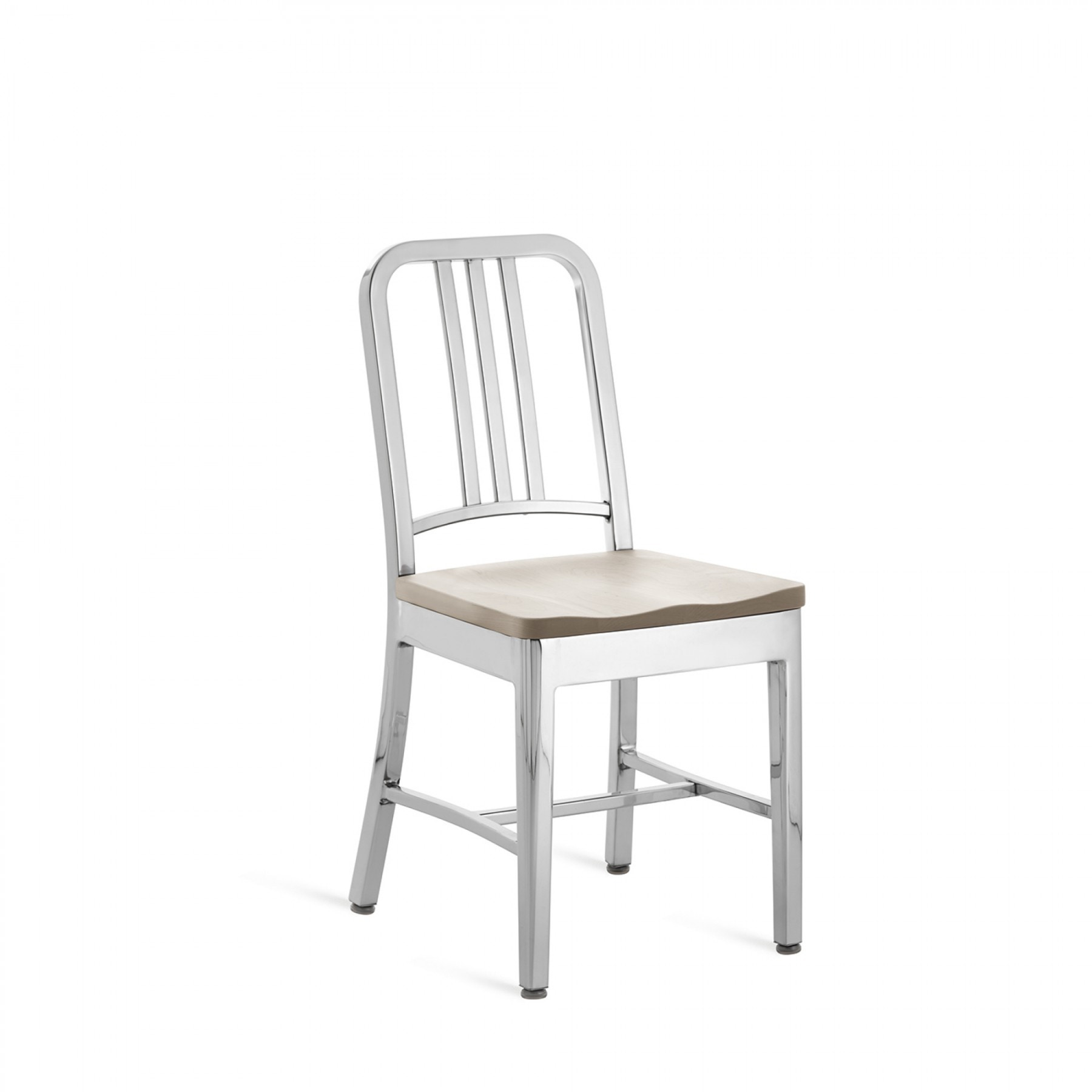 ... Emeco Navy Chair With Natural Wood Seat. 1