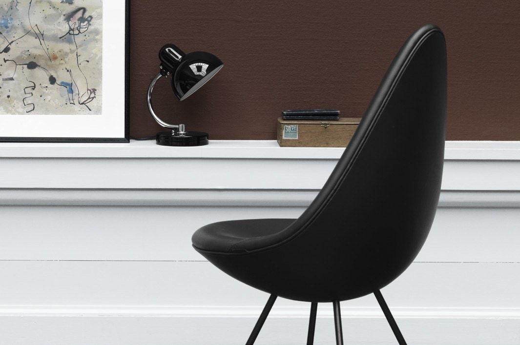 fritz hansen drop chair black edition modern planet. Black Bedroom Furniture Sets. Home Design Ideas