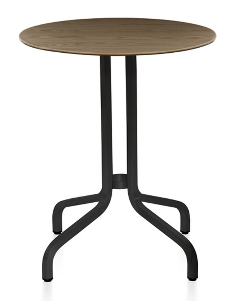 Emeco 1 Inch Dark Powder Coated Cafe Table