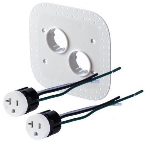 Bocci 22.6.3 20A Drywall Outlet Assembly