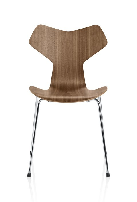 Fritz Hansen Grand Prix Chair with Chromed Base (Laminated)