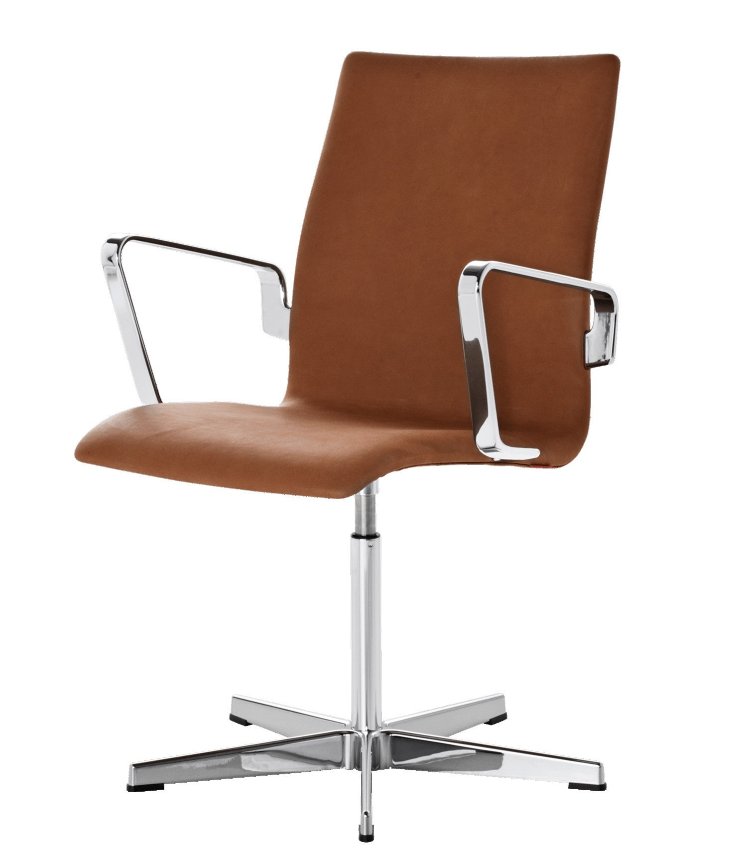 Fritz Hansen Oxford Classic Low Back Chair, Fixed Seat Height with Toes