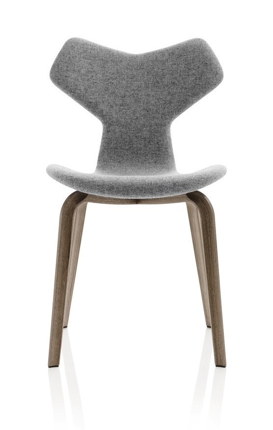 Fritz Hansen Grand Prix™ Chair with Wooden Legs (Fully Upholstered)