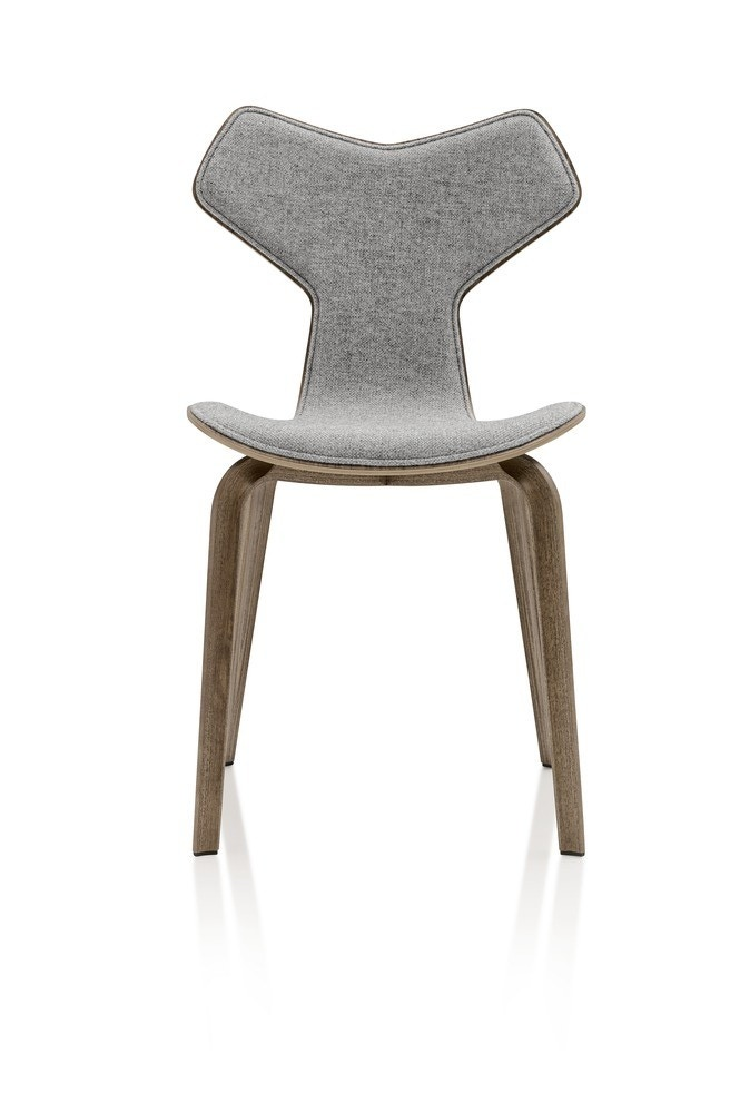 Fritz Hansen Grand Prix Chair with Wooden Legs (Front Upholstered)