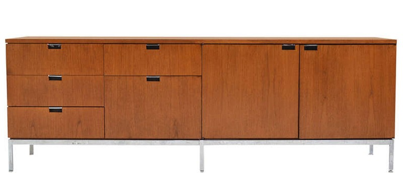 Knoll Florence Knoll® Credenza - Four Position (Four Storage Cabinets) Style 2