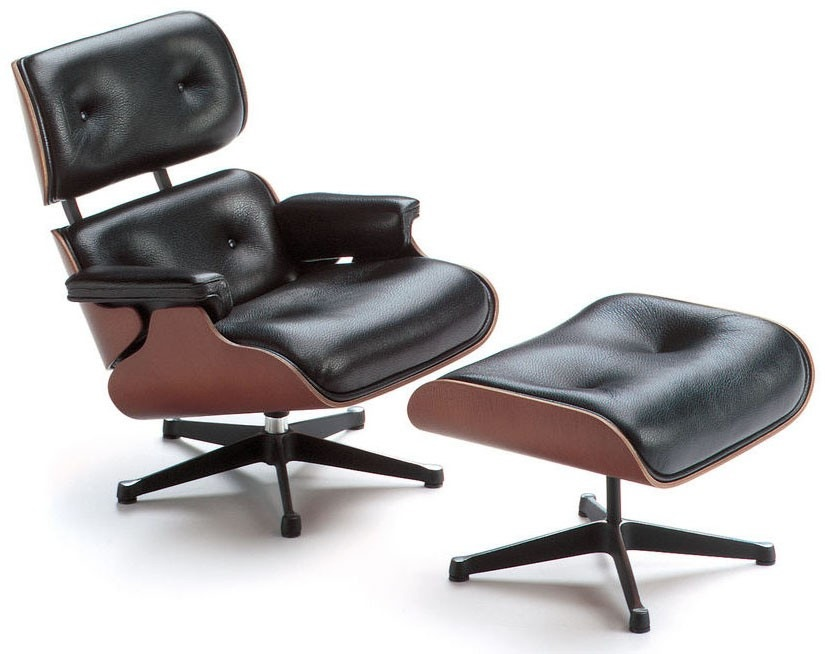 Vitra Miniatures Lounge Chair and Ottoman