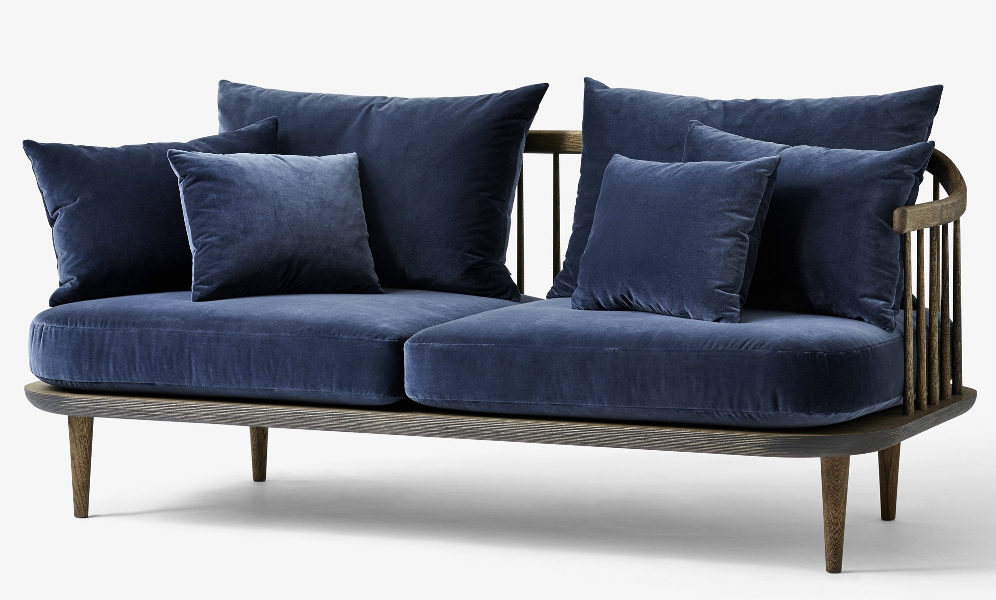 &tradition Fly SC2 Two Seater Sofa (Hot Madison & Harald 2 Fabric)