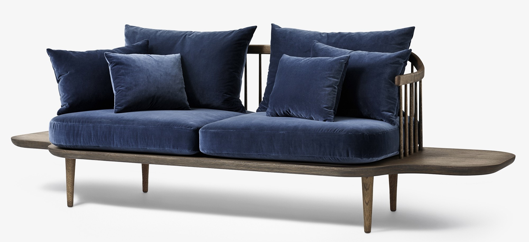 &tradition Fly SC3 Two Seater Sofa (Hot Madison & Harald 2 Fabric)