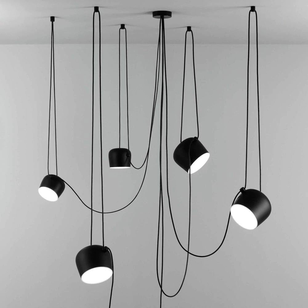 Flos AIM Pendant Lamps with Multi-Canopy