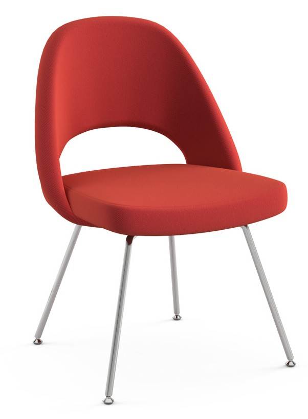 Knoll Eero Saarinen   Executive Armless Chair (Tubular Legs And Glides)