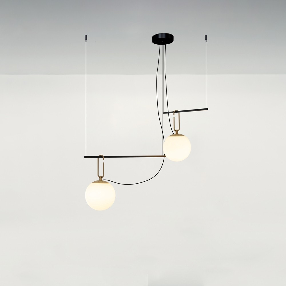 Artemide NH S3 Two Arms Suspension Lamp