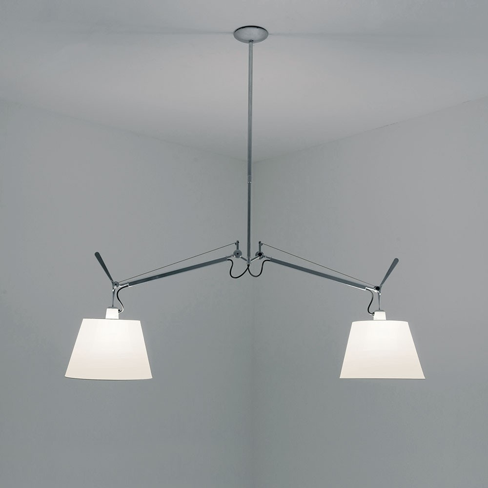 Artemide tolomeo double with shade suspension lamp modern planet arubaitofo Gallery