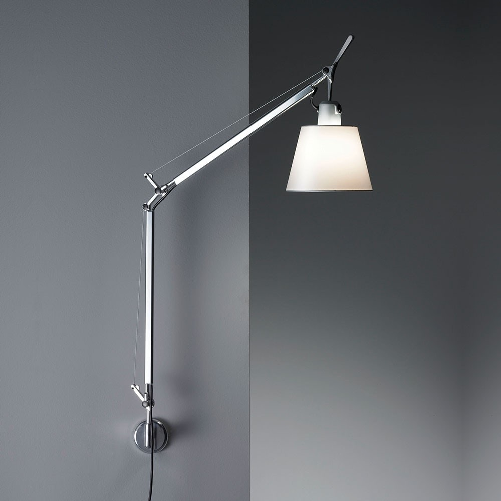artemide tolomeo with shade wall lamp modern planet