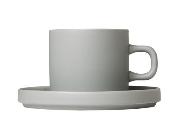 Blomus Mio Coffee Cups with Saucers (Set of 2)