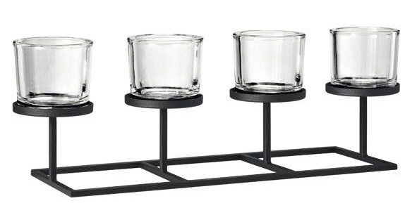 Blomus Nero Tealight Holder with Rectangle Base