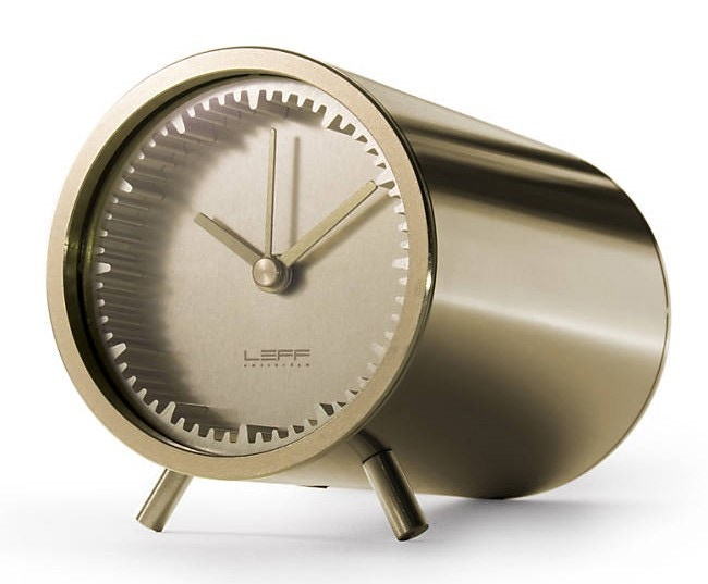 Leff Amsterdam Tube Table Clock