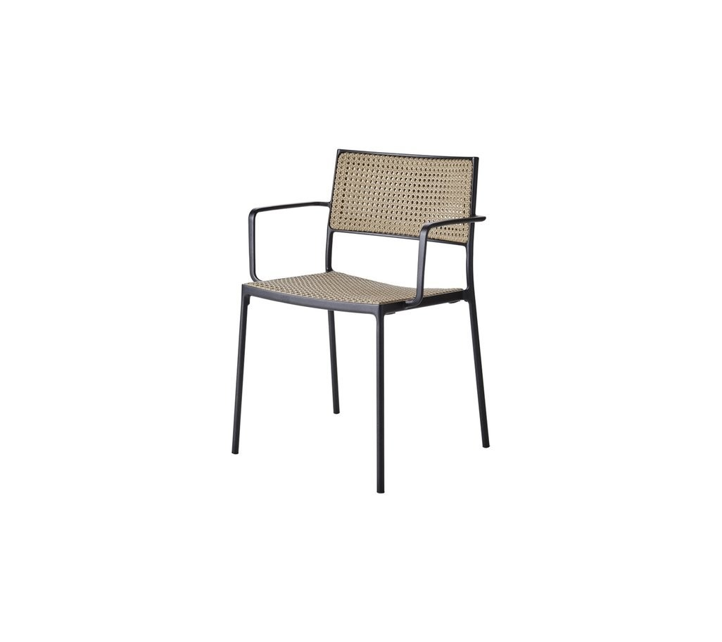 Cane-Line Less Arm Chair, Stackable (11430 French Weave)