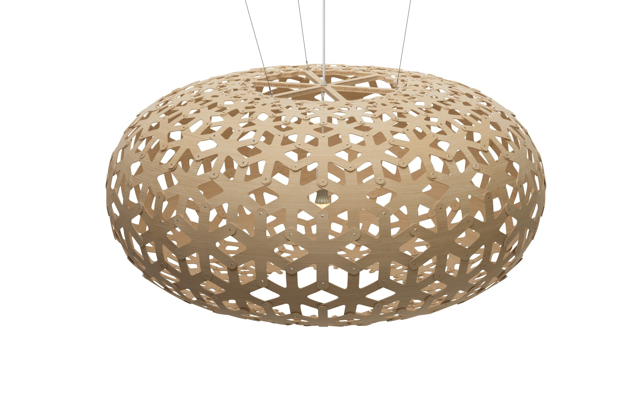 Merveilleux David Trubridge Snowflake Pendant Light