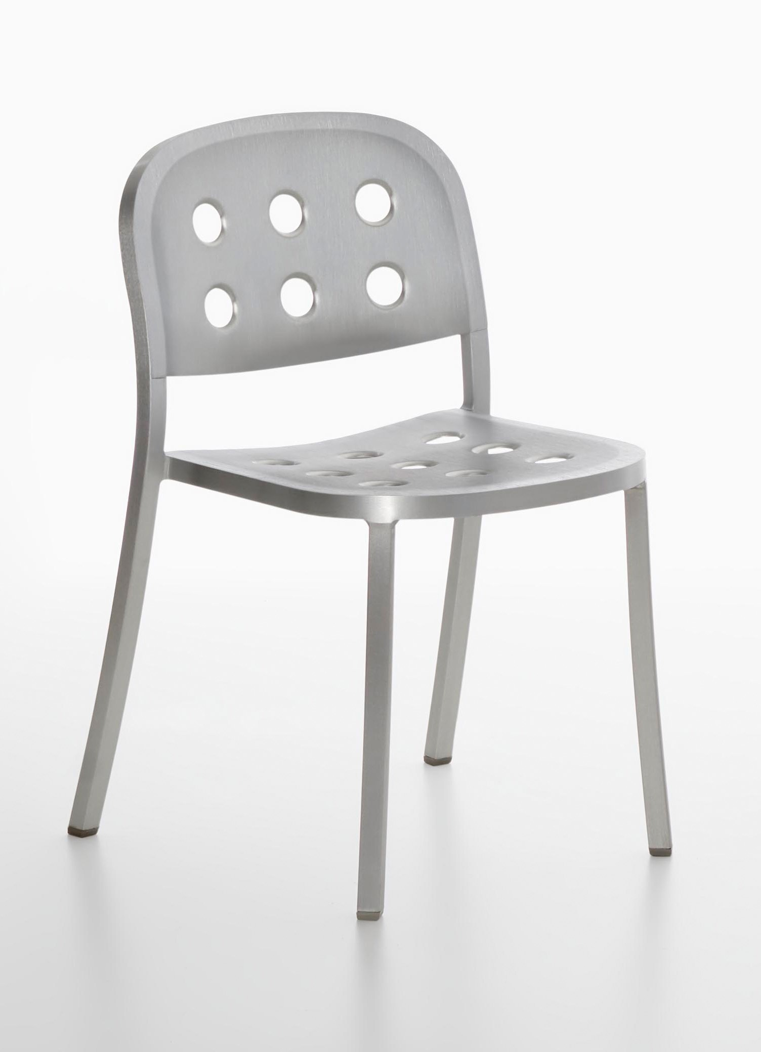 Emeco 1 INCH All Aluminum Stacking Chair By Jasper Morrison