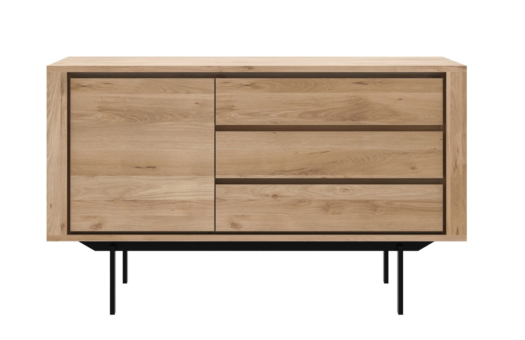 Ethnicraft Oak Shadow Sideboard with Black Metal Legs