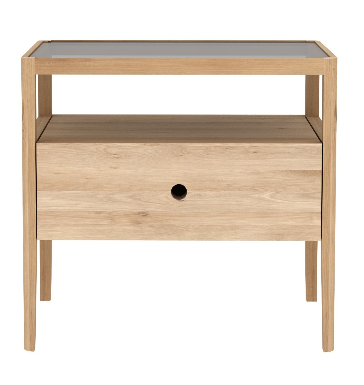 Ethnicraft Spindle Bedside Table with 1 Drawer