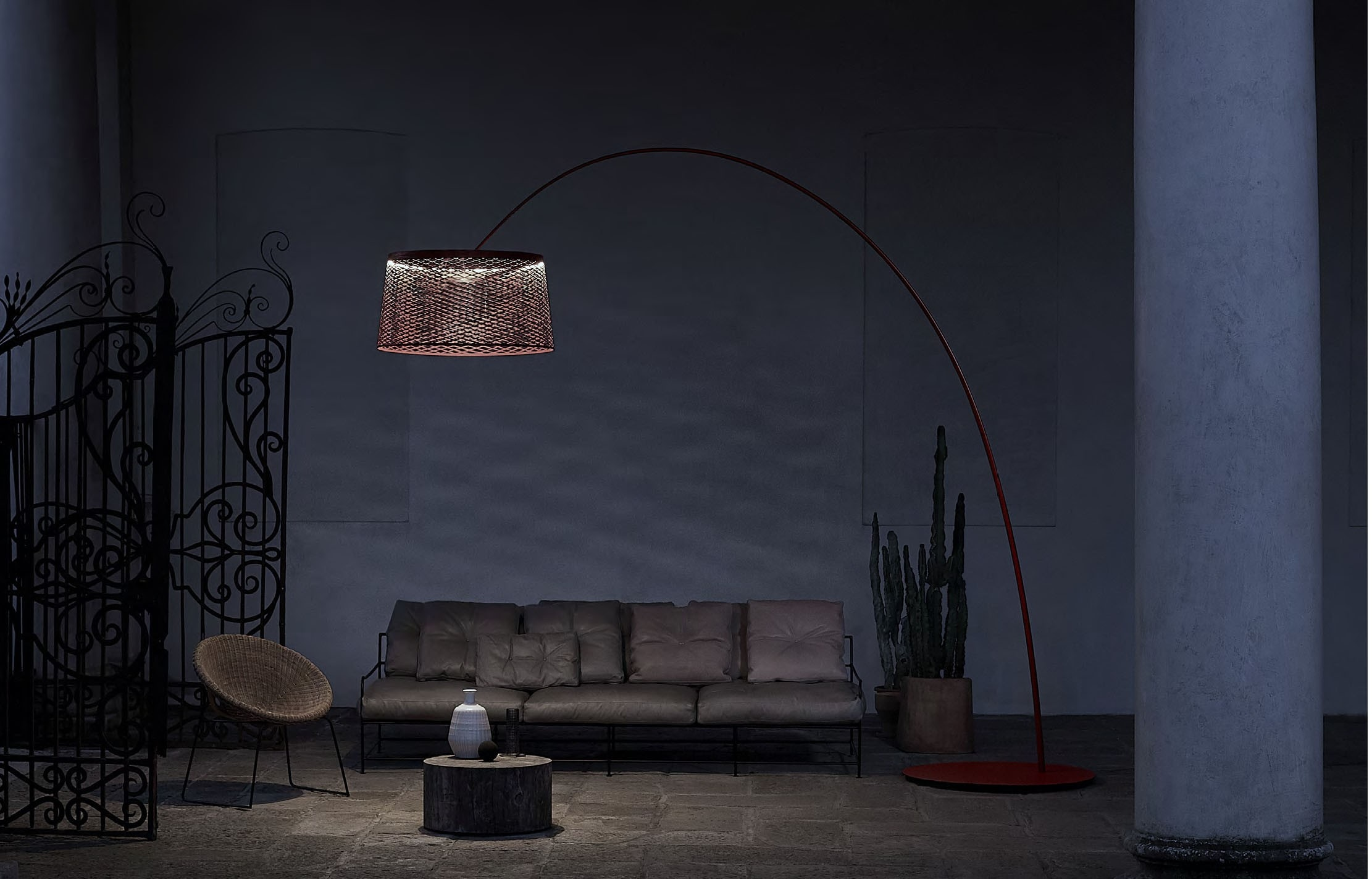 Foscarini Twice As Twiggy Grid Floor Outdoor Lamp