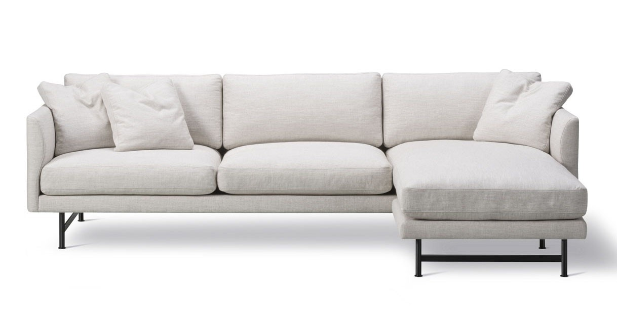 Fredericia Calmo 80 Metal Base 3 Seater Sofa with Chaise