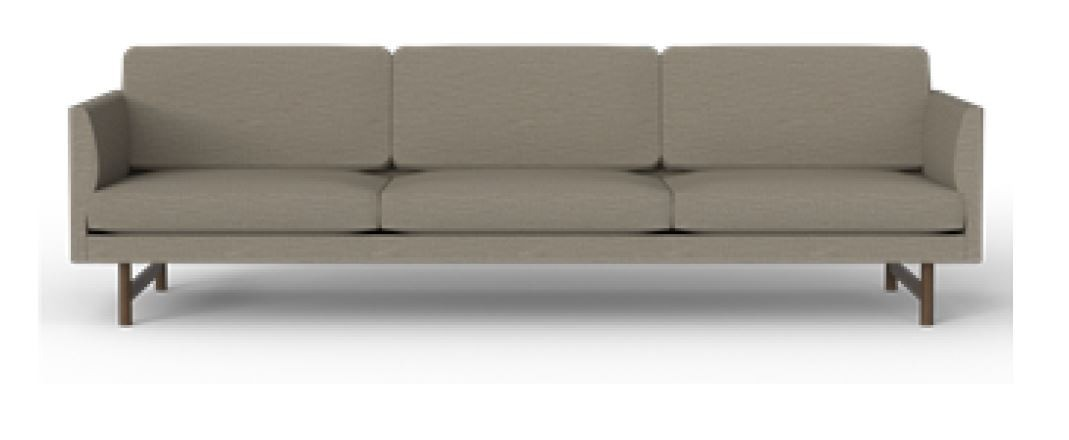 Fredericia Calmo 80 Wood Base 3 Seater Sofa