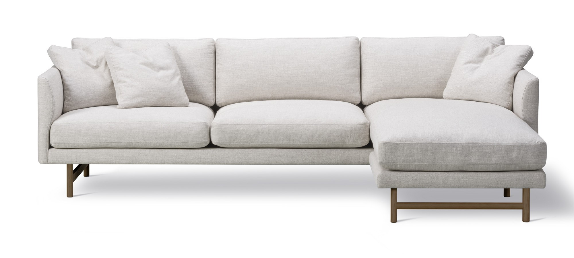 Fredericia Calmo 80 Wood Base 3 Seater Sofa with Chaise