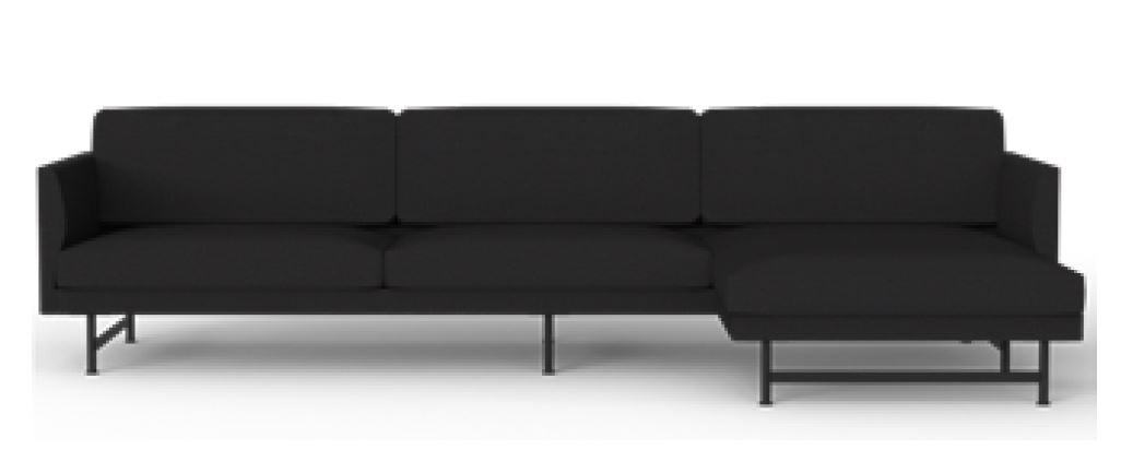 Fredericia Calmo 95 Metal Base 3 Seater Sofa with Chaise