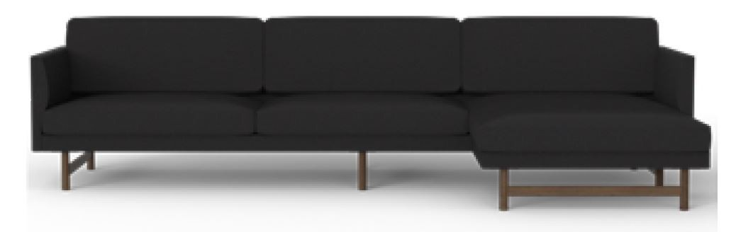 Fredericia Calmo 95 Wood Base 3 Seater Sofa with Chaise