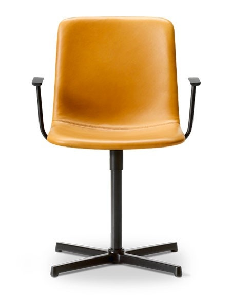 Fredericia Pato Executive Swivel X-Base Armchair - Fully Upholstered