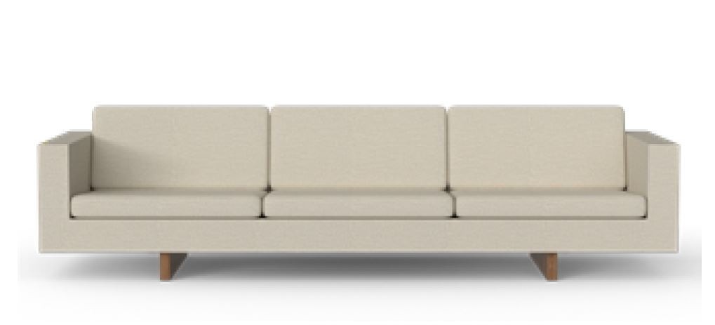 Fredericia Risom 65 3 Seater Sofa - Wood Base