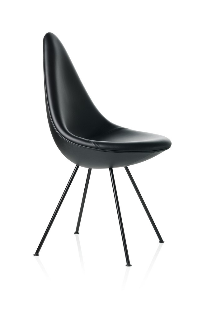 Fritz Hansen Drop Chair (Black Edition)