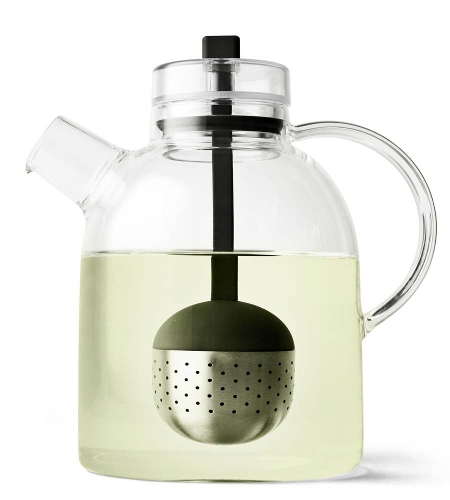 Menu Kettle Teapot Glass with Tea Egg
