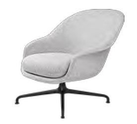GUBI Bat 4-Star Base Lounge Chair (Fully Upholstered)