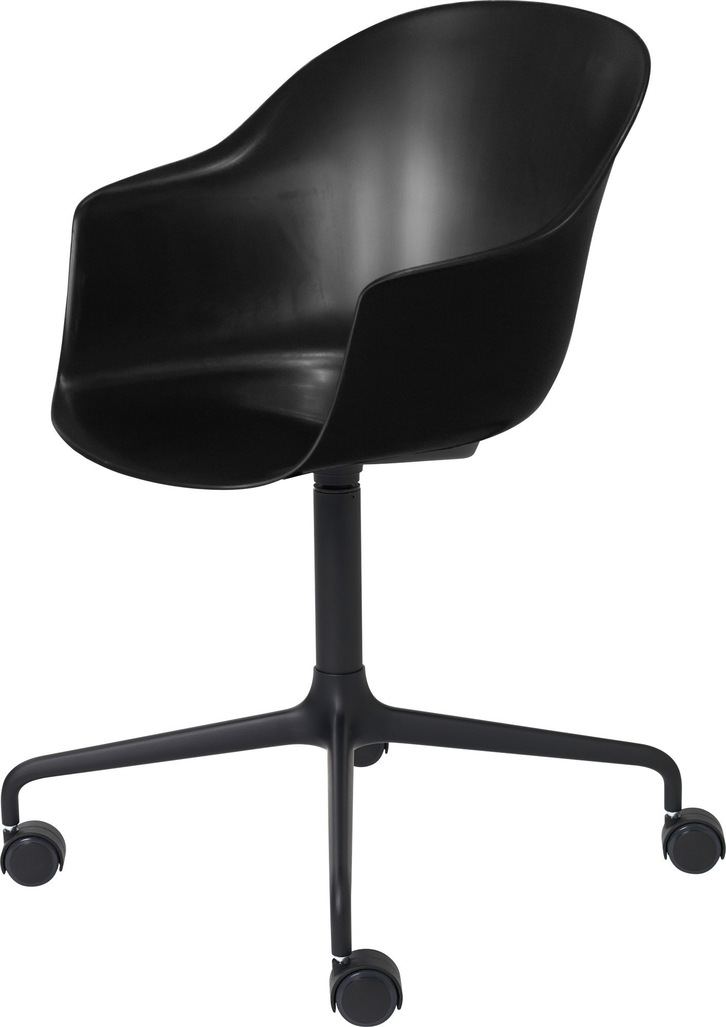 GUBI Bat 4-Star Base Meeting Chair with Castors