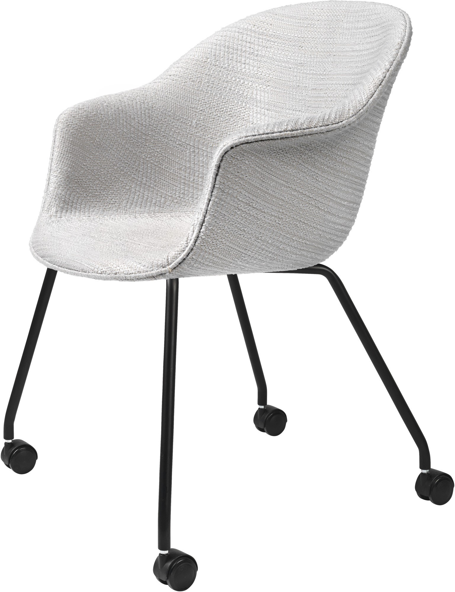 GUBI Bat Meeting Chair 4 Legs with Castors (Fully-Upholstered)