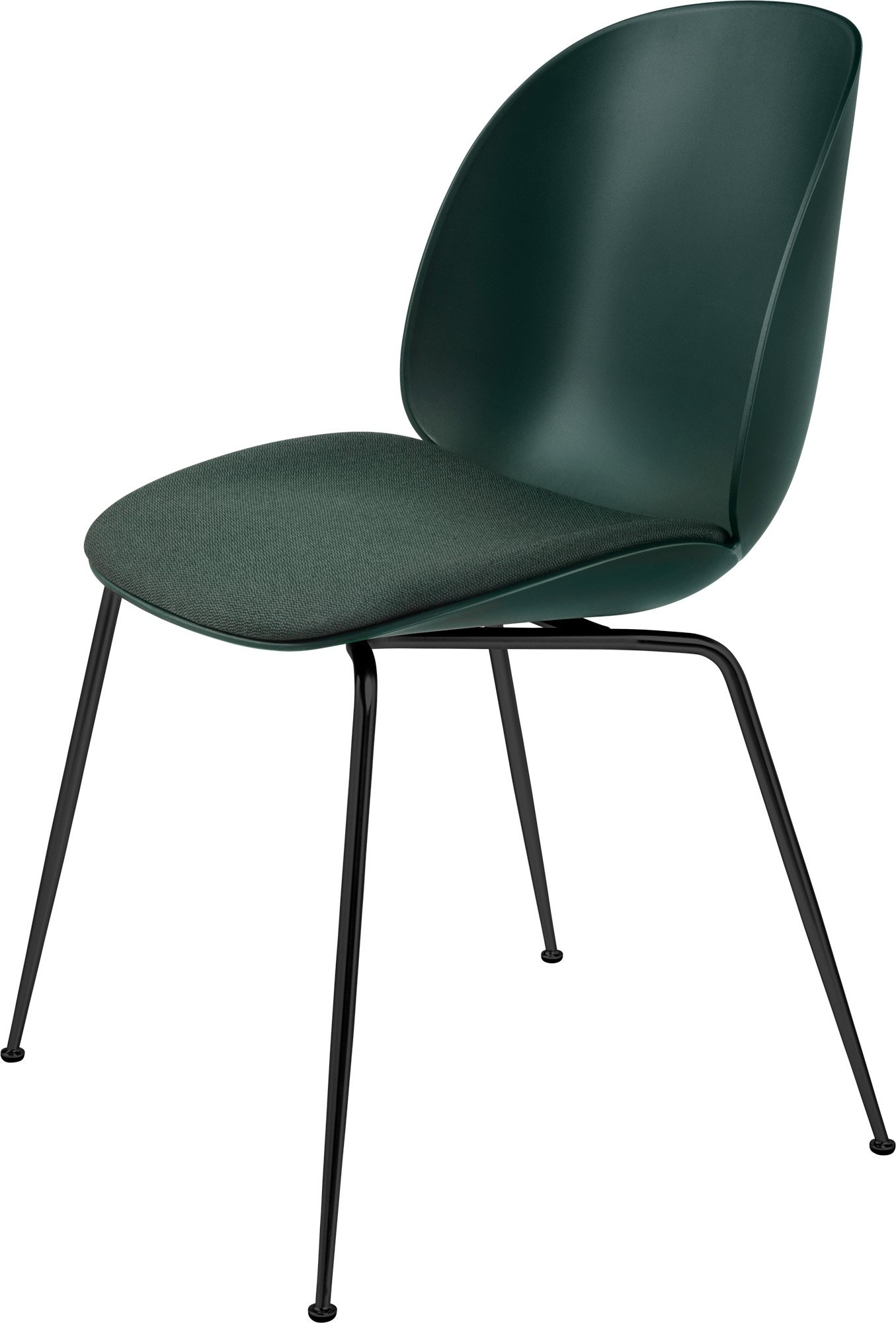 GUBI Beetle Conic Base Dining Chair (Seat Upholstered)