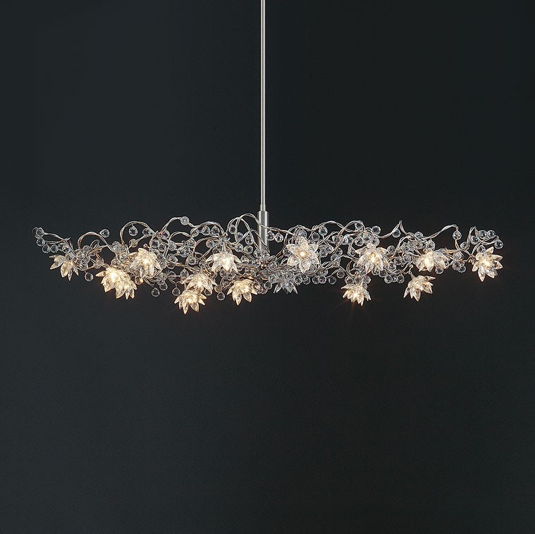 Harco Loor Jewel Diamond Oval Suspension Lamp