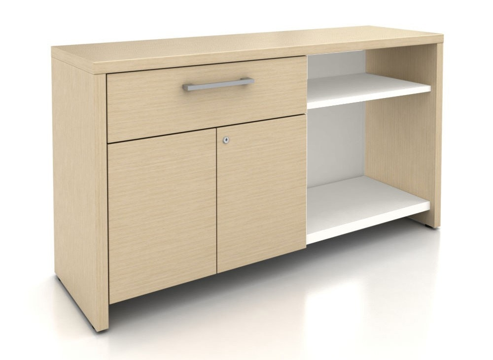 Superbe Haworth A Series Active Storage Credenza With Drawer And Doors   Modern  Planet