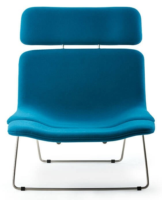 Cappellini Spring Lounge Chair with Headrest, Footrest