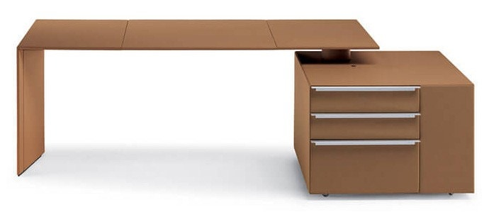 Poltrona Frau C.E.O. Cube Desk with Cube