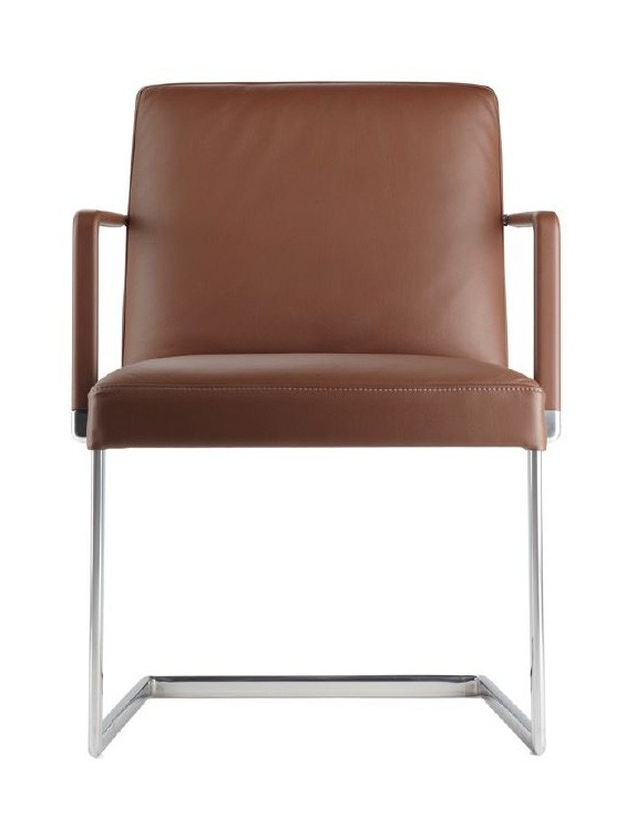Poltrona Frau Chancellor Side Chair with Sled Base