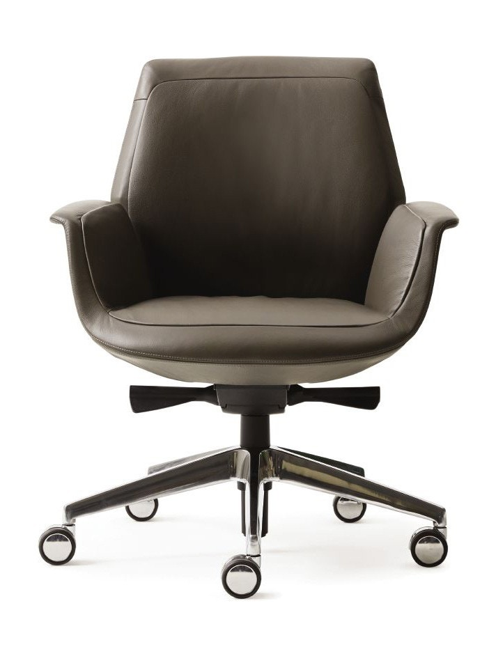 Poltrona Frau Downtown Low Back Conference Chair - Adjustable Height