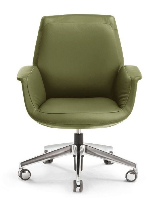 Poltrona Frau Downtown Low Back Conference Chair - Fixed Height