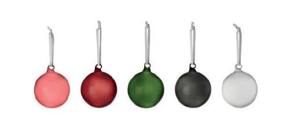 Iittala Christmas Mixed Color Glass Ball (Set of 5)
