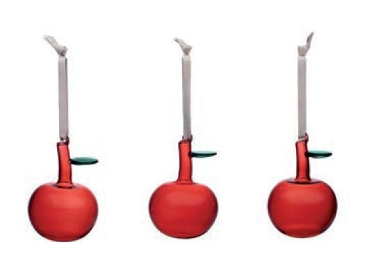 Iittala Christmas Red Glass Apple (Set of 3)