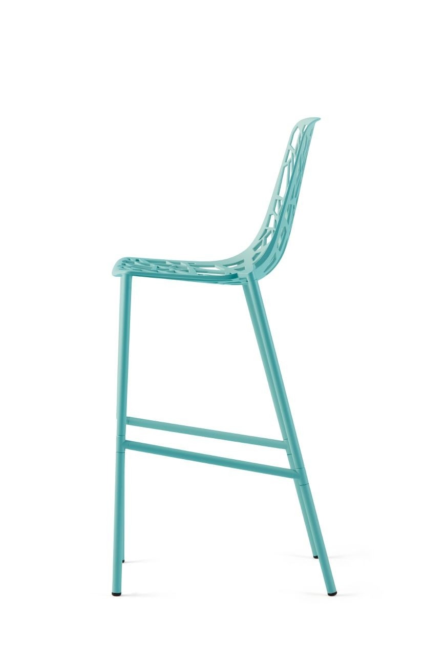 Janus Et Cie Forest Barstool With High Back