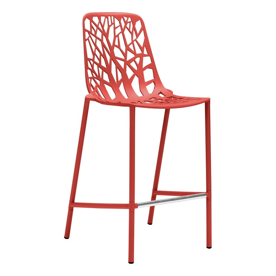 Janus Et Cie Forest Counter Stool With High Back